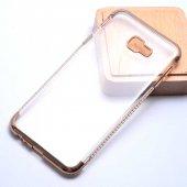 Samsung Galaxy J4 Plus Kılıf Olix Tek Sıra Taşlı Silikon -5