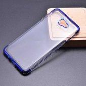 Samsung Galaxy J4 Plus Kılıf Olix Tek Sıra Taşlı Silikon -8