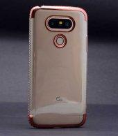 Lg G5 Kılıf Kenarı Tek Sıra Taşlı Silikon