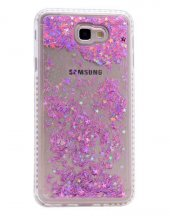 Samsung Galaxy J7 Prime Kılıf Olix Sıralı Taşlı Sıvılı Silikon
