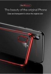Apple iPhone X Kılıf Dört Köşeli Lazer Silikon -5