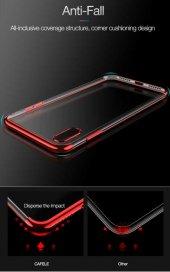 Apple iPhone X Kılıf Dört Köşeli Lazer Silikon -6