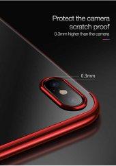 Apple iPhone X Kılıf Dört Köşeli Lazer Silikon -7