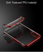 Apple iPhone X Kılıf Dört Köşeli Lazer Silikon -8
