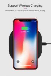 Apple iPhone X Kılıf Dört Köşeli Lazer Silikon -9