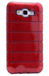 Samsung Galaxy J2 Kılıf Olix Çizgili Motomo Kapak -6