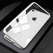 Apple iPhone 7 Kılıf Olix Devrim Mıknatıslı Cam Kapak