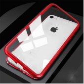 Apple iPhone 7 Kılıf Olix Devrim Mıknatıslı Cam Kapak -2