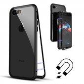 Apple iPhone 7 Kılıf Olix Devrim Mıknatıslı Cam Kapak -6