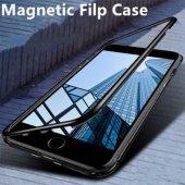 Apple iPhone 7 Kılıf Olix Devrim Mıknatıslı Cam Kapak -7