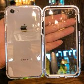 Apple iPhone 7 Kılıf Olix Devrim Mıknatıslı Cam Kapak -8