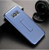 Samsung Galaxy S8 Plus Kılıf Olix Wave Standlı Mıknatıslı Kapak