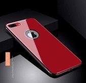 Apple İphone 8 Plus Kılıf Olix Düz Renkli Ebruli Cam Kapak