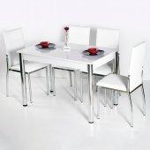 Evform Favorite 4 Kişilik Masa Sandalye Mutfak Masası Takımı - Be