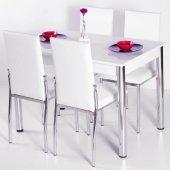 Evform Favorite 4 Kişilik Masa Sandalye Mutfak Masası Takımı - Be-2