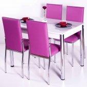 Evform Favorite 4 Kişilik Masa Sandalye Mutfak Masası Takımı - Fu-2