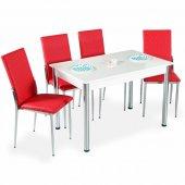 Evform Favorite 4 Kişilik Masa Sandalye Mutfak Masası Takımı - Kı-2