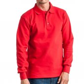 Polo Yaka Sweat Shırt Kırmızı