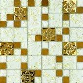 Mk 16 Granitto Beyaz Altın Cam Mozaik