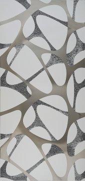 Mr46g Granitto Gümüş Aynalı 30x60cm Dekor