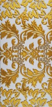 Ea01 Granitto Beyaz Zemin Kabartmalı Altın 30x60cm Dekor