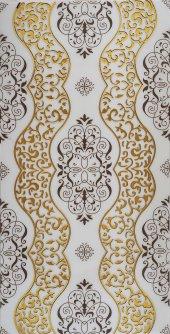 Ba40 Granitto Beyaz Zemin Altın İşlemeli 30x60cm Dekor