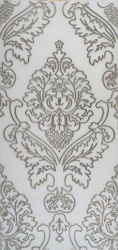 BG06 Granitto Beyaz Zemin Gümüş İşlemeli 30x60cm Dekor