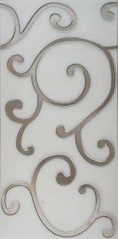 BG04 Granitto Beyaz Zemin Gümüş İşlemeli 30x60cm Dekor