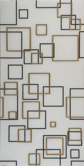 Ba12 Granitto Altın Yaldız Beyaz Dekor 30 X 60 Cm