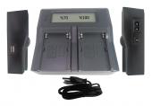 150 Led Kamera Işıkları İçin DP NP-F970 Çiftli Şarj Cihazı