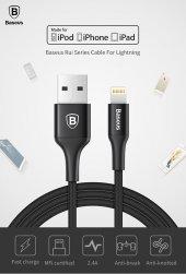 Baseus Mfi Lisanslı 1m Hızlı Şarj Destekli Lightning Apple Kablo Siyah