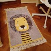 Rugrita Aslan Model Çocuk Odası Halısı Yumuşak...
