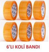 Klas Plustape Bal Rengi Şeffaf Koli Bandı 6 Lı Paket