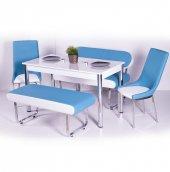 Evform Vega Banklı Masa Takımı Mutfak Masası...