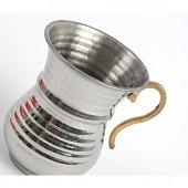 Ayran Meşrubat Bardağı İçi Kalay Kaplı Pirinç Kulp-2