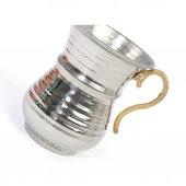 Ayran Meşrubat Bardağı İçi Kalay Kaplı Pirinç Kulp-3