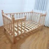 Montessori Yatak Çocuk Yatak Doğal Gürgen...