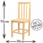 Sabit Sandalye Doğal Ham Ahşap