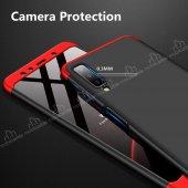 Eiroo Samsung Galaxy A7 2018 360 Derece Koruma Kırmızı Kılıf-3