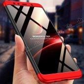 Eiroo Samsung Galaxy A7 2018 360 Derece Koruma Kırmızı Kılıf-4