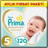 Prima Bebek Bezi Premium Care 5 Beden Junior Aylık Fırsat Paketi 120 Adet