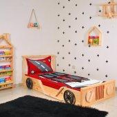 Arabalı Yatak Karyola Çocuk Odası Tek Kişilik...