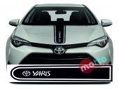 Toyota Yaris Logolu Otomobil Ön Kaput Şeridi...