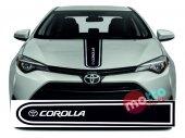 Toyota Corolla Logolu Otomobil Ön Kaput Şeridi...