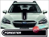 Subaru Forester Logolu Otomobil Ön Kaput Şeridi...