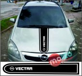 Opel Vectra Logolu Otomobil Ön Kaput Şeridi...