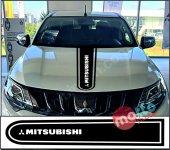 Mitsubishi Logolu Otomobil Ön Kaput Şeridi...