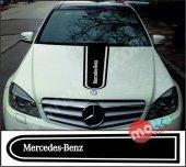 Mercedes Benz Logolu Otomobil Ön Kaput Şeridi...