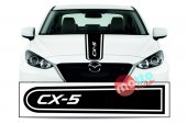 Mazda Cx 5 Logolu Otomobil Ön Kaput Şeridi...