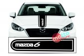 Mazda 6 Logolu Otomobil Ön Kaput Şeridi Kaput...